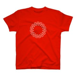 えんぴつの輪_白 T-shirts