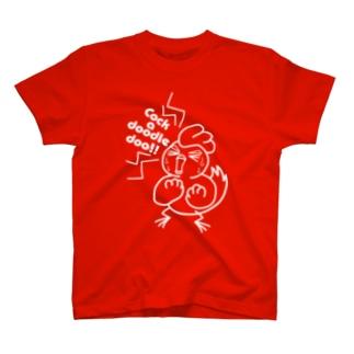 にわぼび!叫ぶ!白線 T-shirts