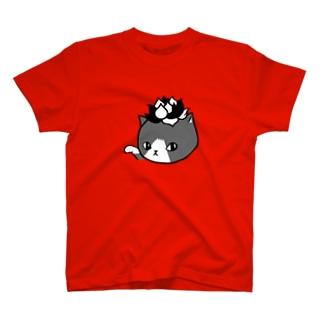 エケネコ(モノクロ) T-shirts