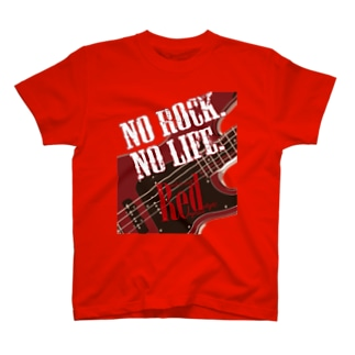 No Rock. No Life. Red(Bass) T-shirts