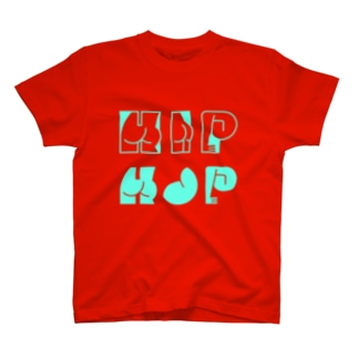 HAPPY ASS HIP HOP! ネオンブルー T-shirts