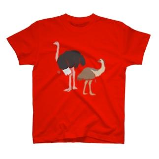 AWZ ダチョウ&エミュー T-shirts