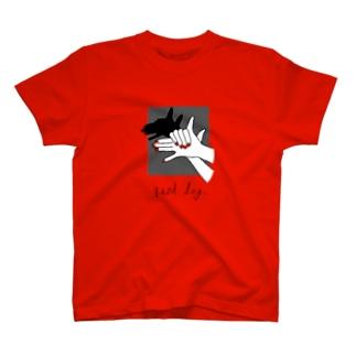 【色変化】Hand Dog(shadow) T-shirts