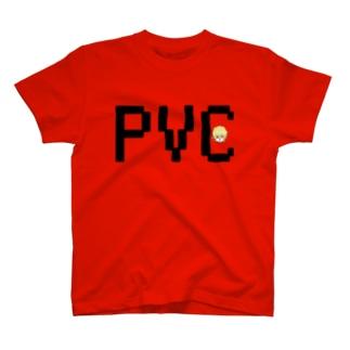 PVC Tシャツ 黒文字 T-shirts