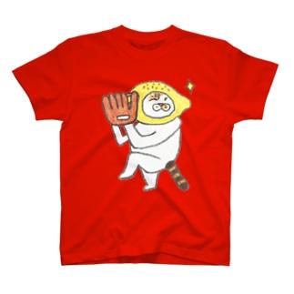 投げると見せかけて T-shirts