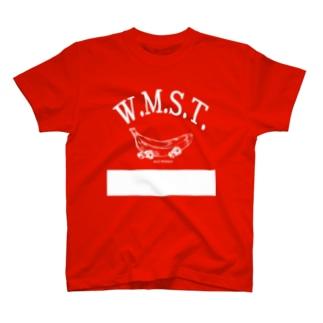 ワイルドモンキー‗ロゴ白 T-shirts