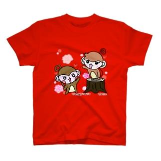 やんちゃなおサル&関西弁さる(ローズ) T-shirts