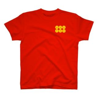 【家紋Tシャツ】六文銭 T-shirts