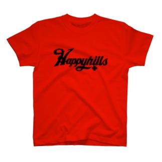Happyhillsふくおか(黒) T-shirts