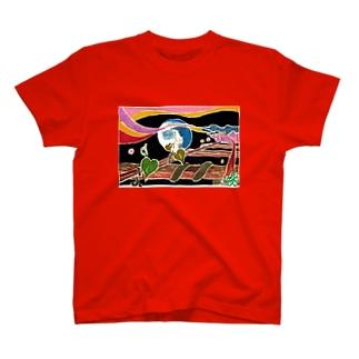 錆びたレールと夏草の歌1 T-shirts