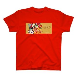 陽気なジプシーバンド猫 T-shirts