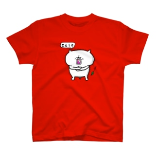 寒がる猫 T-shirts