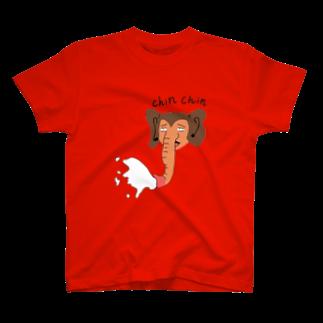 kitasimazinのKONNO CHIN CHIN T-shirts