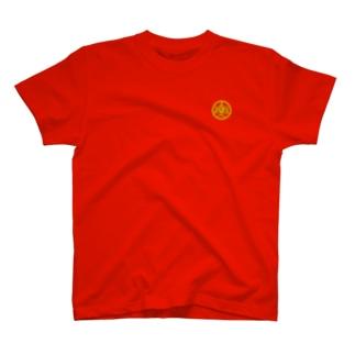 moji 吾唯知足 丸 (Tシャツ) T-shirts