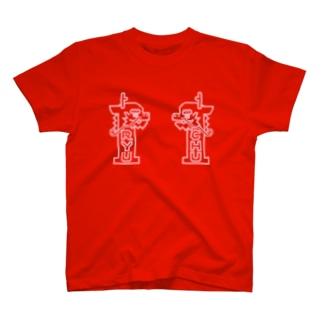 【 UNISEX 】 ひやみかち首里城(ライトピンク枠のみ) T-shirts