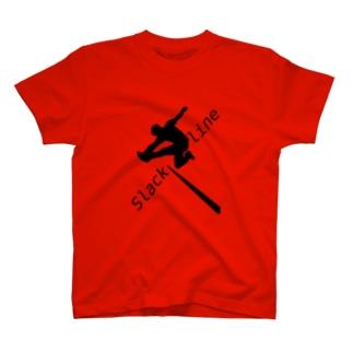 スラックライン(グラブ) T-shirts