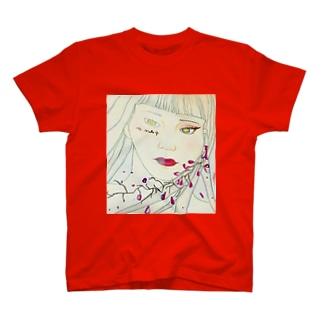 no makeup/makeup girl T-shirts