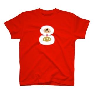えんぎものすうじ 8 ダルマ T-shirts