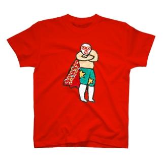 すてきなマントのレスラー Tシャツ