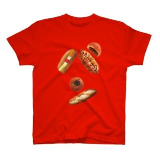 新デザインパンのパン文字 T-shirts
