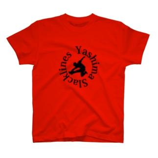 YSロゴ-ブラック T-shirts