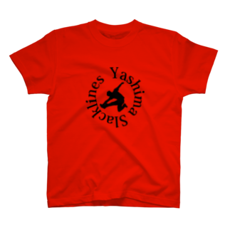 YASHIMA-SLACKLINESのYSロゴ-ブラック T-shirts