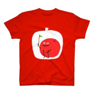 りんご ver.枝 T-shirts