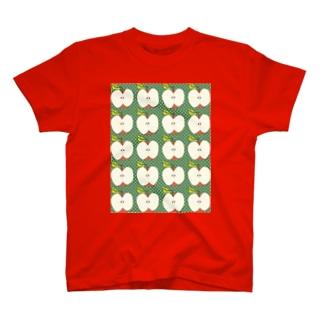 りんごパターン T-shirts