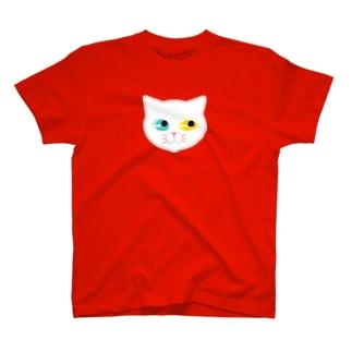 オッドアイな白にゃんこ T-shirts