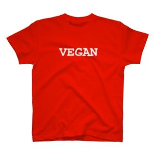 VEGANロゴ(白) T-shirts
