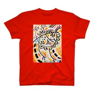 ひよこ君と雛祭り中のゆで卵chanの、わっしょい祭り T-shirts