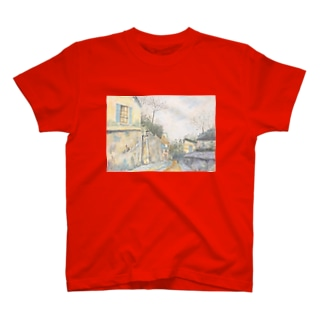 ユトリロの幻影:Mirage of Utrillo T-shirts