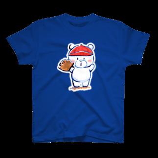 ぷわぷわぺこのピッチャーくまさん Tシャツ