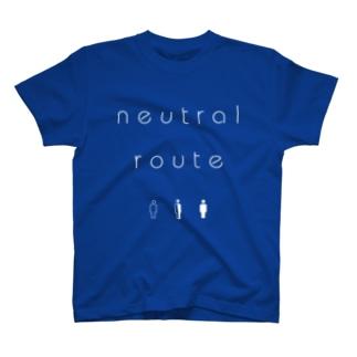 neutral route [White] Tシャツ