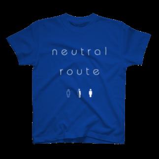 8garage SUZURI SHOPのneutral route [White] Tシャツ