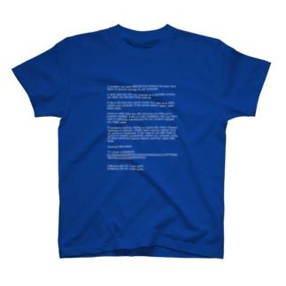 ブルースクリーン Tシャツ