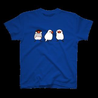 文鳥堂のわんぱく文鳥 Tシャツ