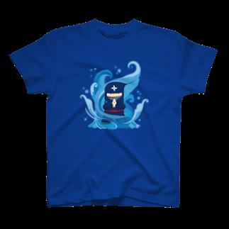 gyazo_jpのGyazo Ninja 水遁の術Tシャツ