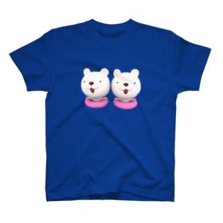 立体視で飛び出す! 3Dシンクロくまちゃん/うきわ Tシャツ