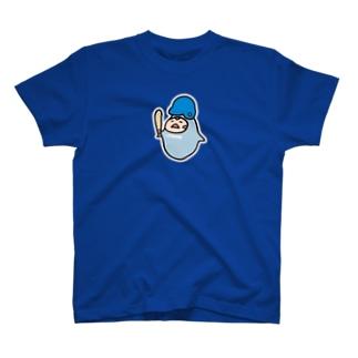 やるきない野球(あお) Tシャツ