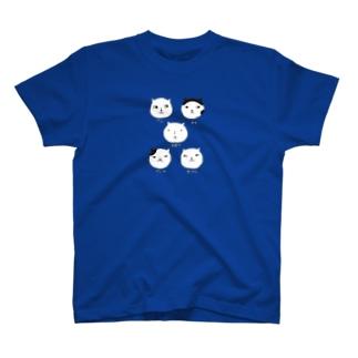 ねこ5シロクロ Tシャツ