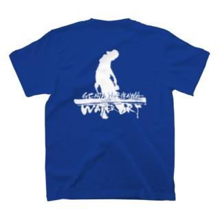 ロゴ入り(白文字)【前/文字・後/ロゴ】12色 T-shirts