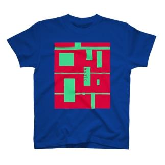 music+ ver.BLUE T-shirts