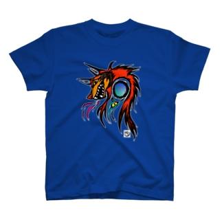 戦いの狼犬カーリー T-shirts