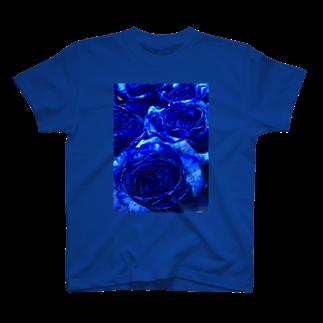 FŁĘÄ/F£€@のブルーローズ T-shirts