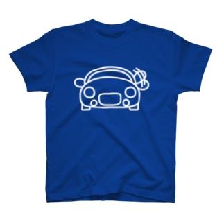 大福みたいな車お手手ふりふり白 T-shirts