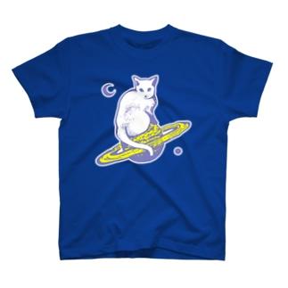 スペースキャット グレー T-shirts