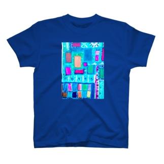 ターコイズスクエア T-shirts