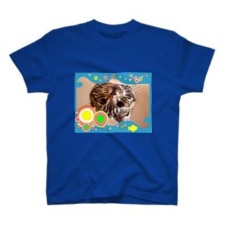 テル!のお店の逆さニャンコ(キッシュ) T-shirts