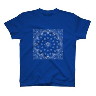 風丸本舗のペイズリーラバーズ T-shirts